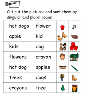 FREE Singular vs. Plural Noun sort. Sorting words and pictures. www ...
