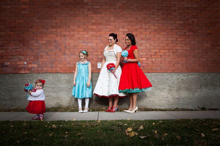 Vintage red & turquoise Wedding