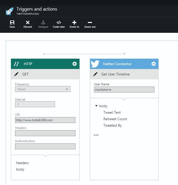 Azure App Service - Logic App Editor