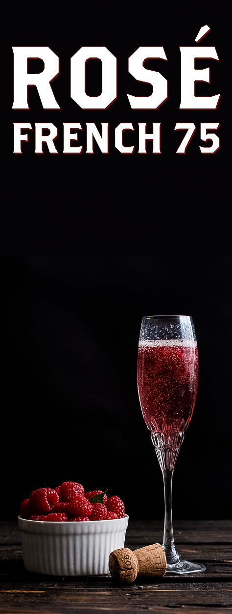 The Rose French 75 is the perfect shower, party, or brunch cocktail.  Instead of champagne, this drink uses sparkling rose.