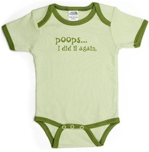 Perfect Bodysuits for baby girls - http://www.gotobaby.com/ - Buy this trendy 100% cotton bodysuit which comes in a cool shade of green with darker trim and writing.