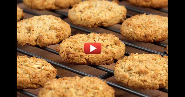 Овсяное печенье из двух ингредиентов с минимумом калорий
