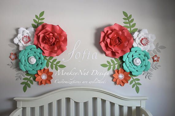Your Place To Buy And Sell All Things Handmade Flower Nursery Paper Flowers Big Paper Flowers