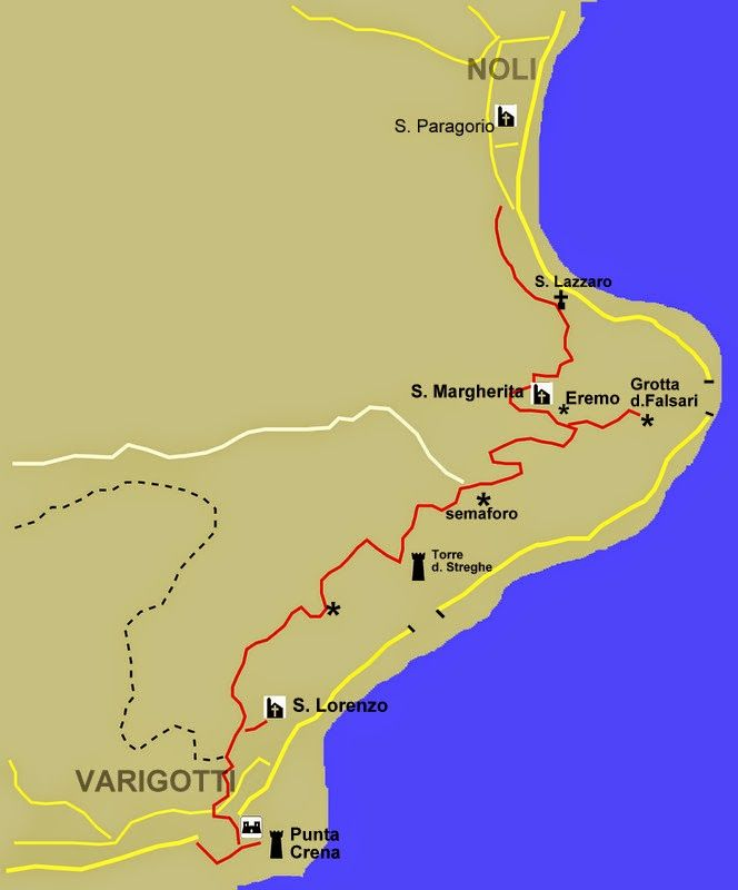 MUNTAeCHINNA TREKKING: Traversata Varigotti - Noli - Il Sentiero del Pellegrino