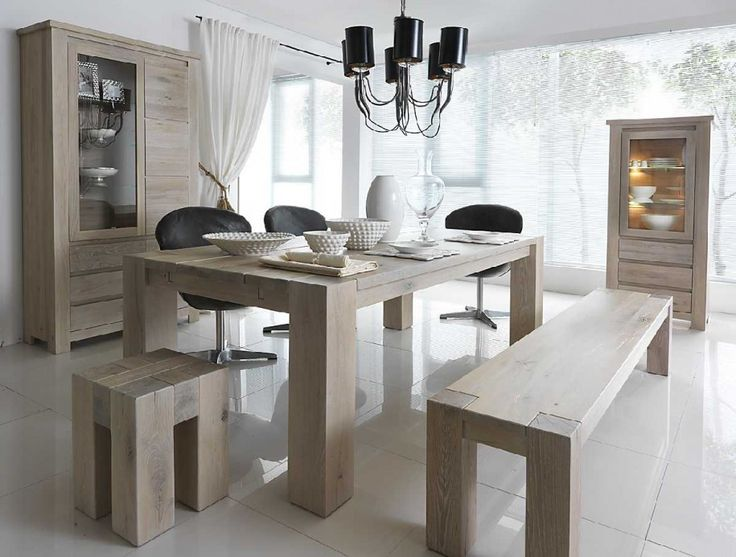Dining Room The Best Selections Of Dining Room Furniture: Cool Neutral  White Dining Room With Traditional Wooden Furniture Mix Black Unique Chairs  And Black ...