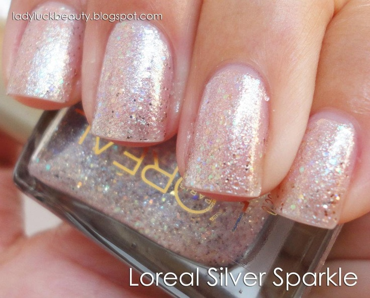 Loreal - Silver Sparkle Nails