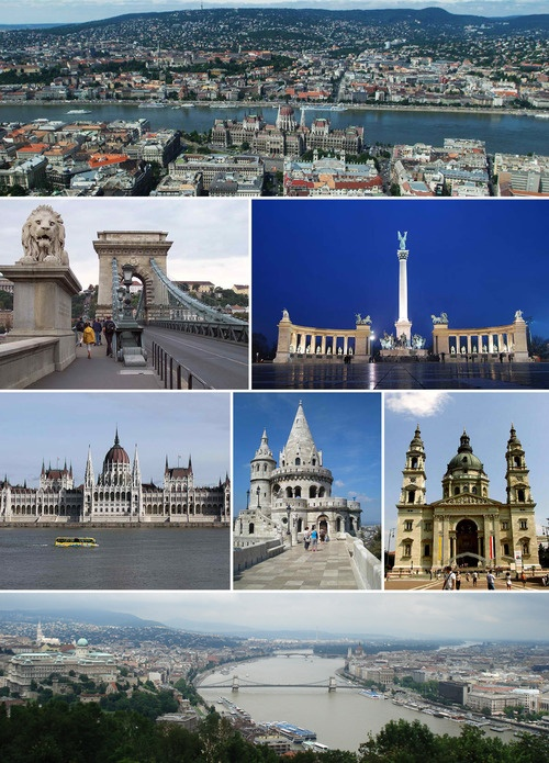 Collage of Budapest, Hungary