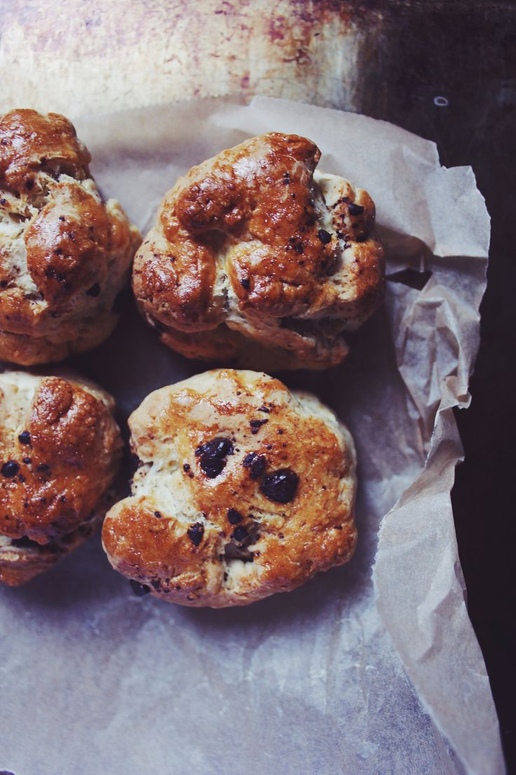 Scones with chocolate