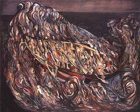história trágico-marítima, #Portuguese painter - Vieira da Silva