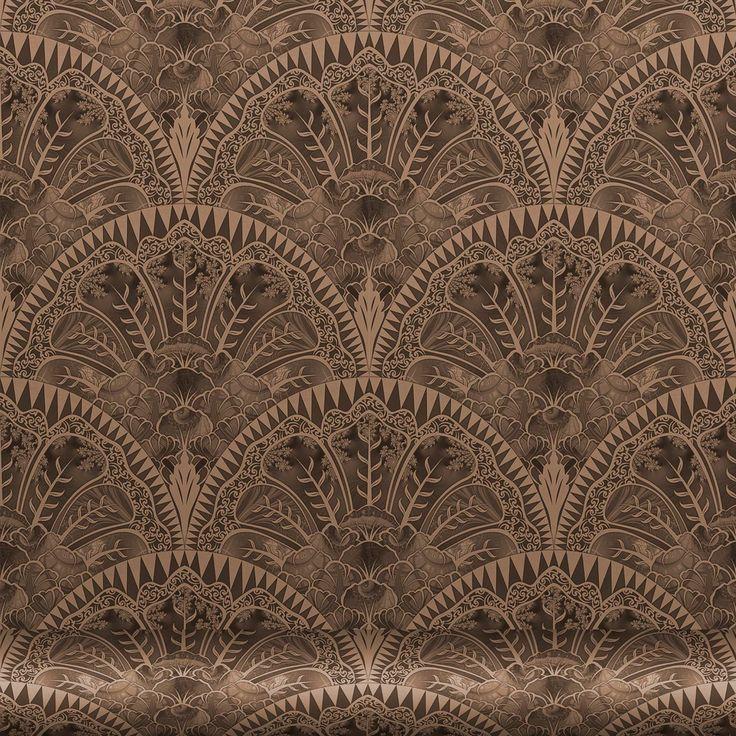 Papel pintado geométrico de tejido no tejido de flores FLORINDA by Equipo DRT diseño Pappenpop