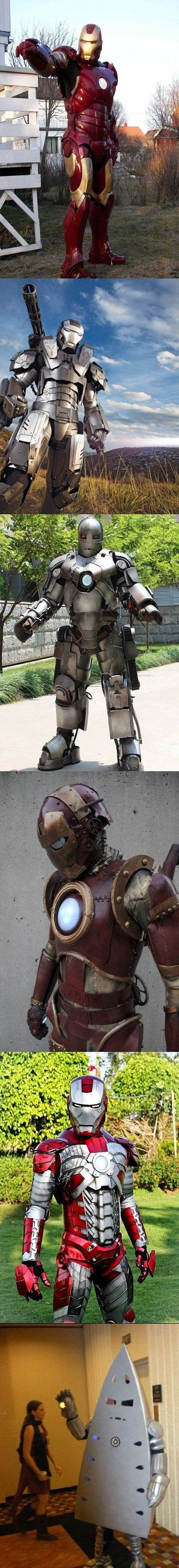awesome ironman costumes, especially the last one hahaha