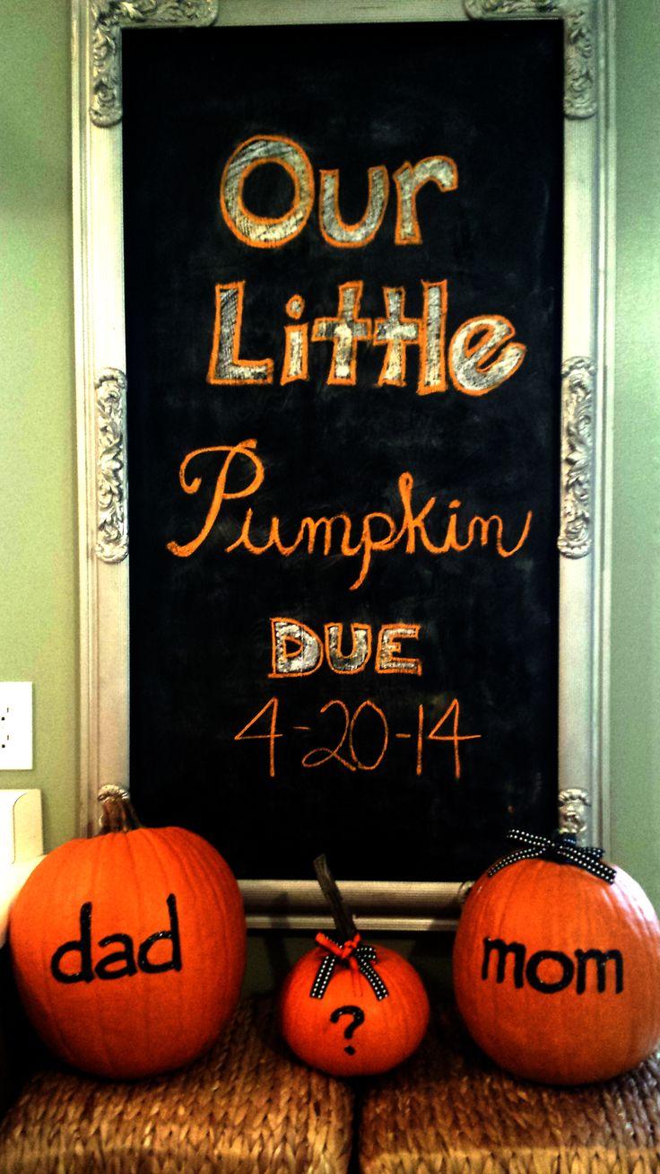 Ha ha cute, I hope when I have kids I can do a fall pregnancy announcement :)