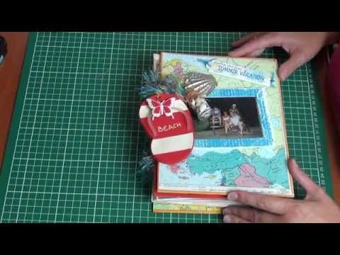 travel smashbook junk journal mini album completly done with pictures ✂📖🌏