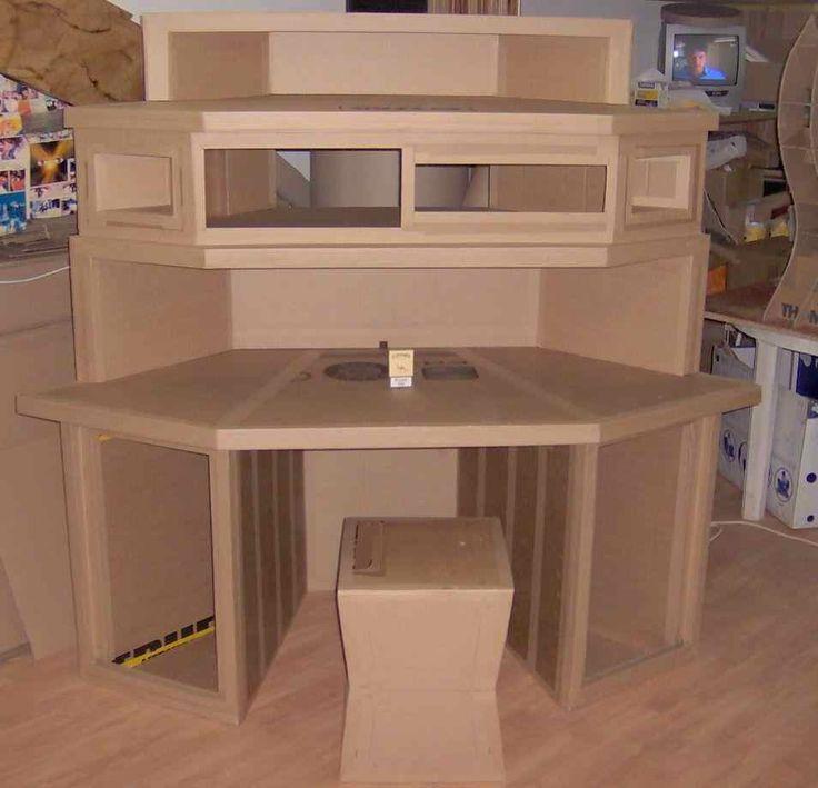 Bureau Dangle Avec Rangements Carton Brut