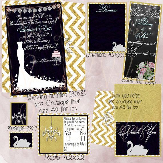 Black Velvet Wedding, invitation set, elegant, gold, wedding dresses,beautiful, save the date