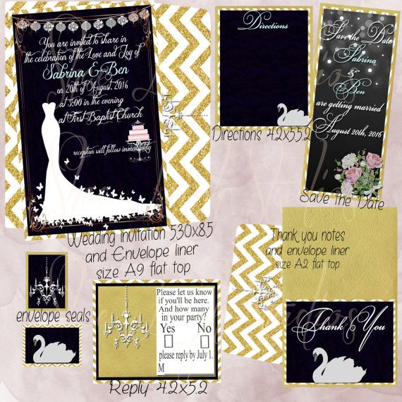 Black Velvet Wedding, invitation set, elegant, gold, wedding dresses,beautiful, save the date