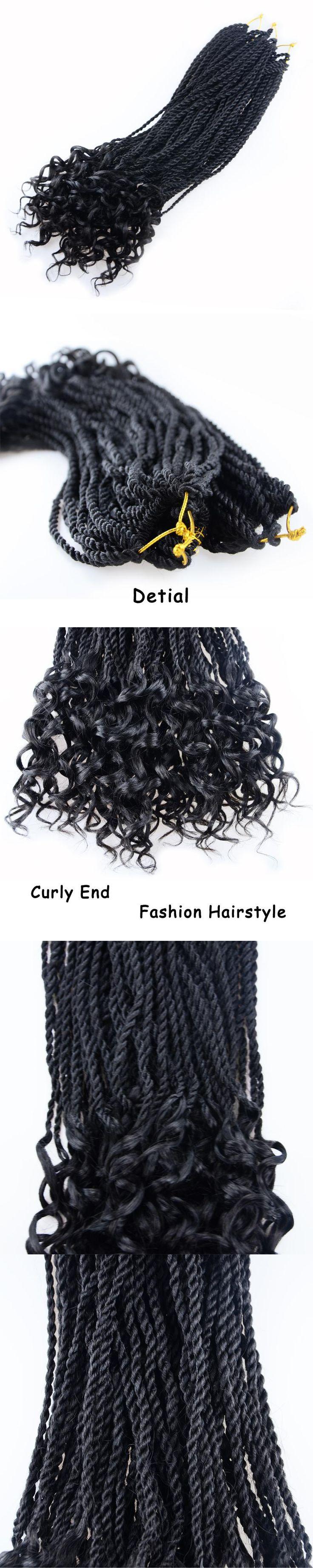 "ELEGANT MUSES 18"" 30R 100g Twist Braiding Hair Extensions Crochet Braids Senegalese Twist Crochet Hair Extensions Synthetic 1pc"