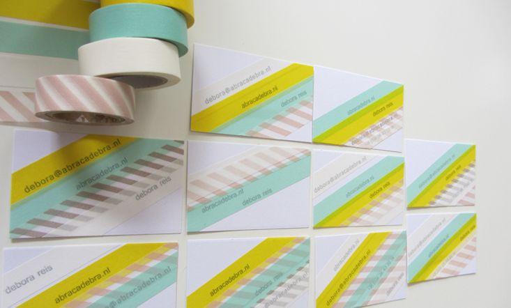 DIY | Masking tape | business cards