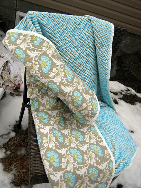 Faux Chenille Blanket.  I want of these for myself!
