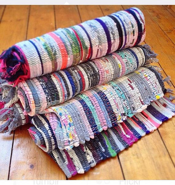 Fair Trade Indian Thick Cotton Small Rag Rug By Bohemiyanauk