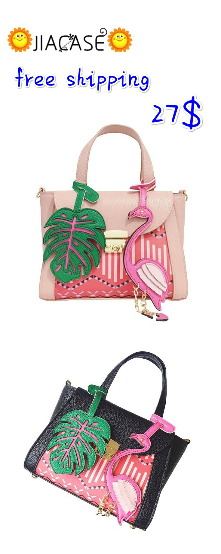 Brand #Floral #Bird #Cartoon Printing #Bag Women #Shoulder Bags Designer #Handbags Girls #Tote Female #Leather #Messenger #Bags