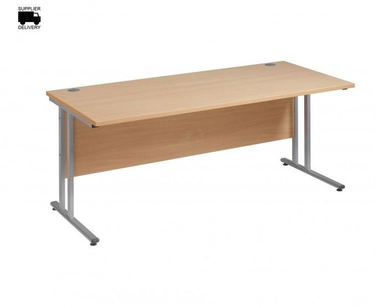 Modern Rectangular Desk Office Table Writing Home Computer Silver Cantilever Leg #ModernRectangularDesk