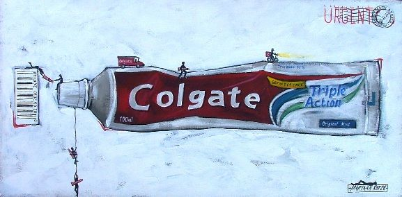 Colgate Toothpaste painting