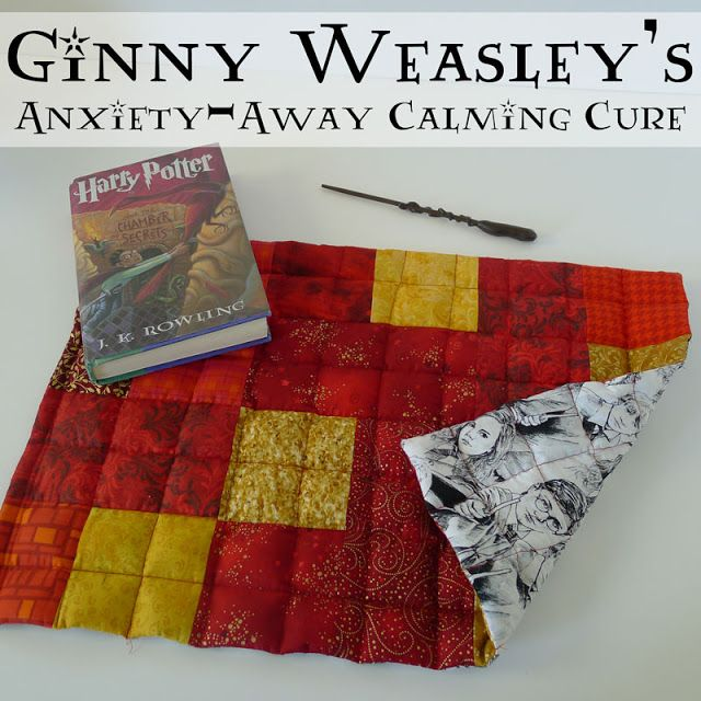 Pieces by Polly: Ginny Weasley's Anxiety-Away Calming Cure - Weighted Lap Pad - Harry Potter