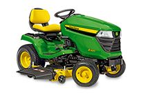 JohnDeere X300 -- Deck Engagement: Electric  Twin Touch Foot Pedals  Mower Deck Options: 38 Edge Xtra (97 cm / 38 in) 42 Edge Mulch (107 cm / 42 in) 42 Edge Xtra (107 cm / 42 in)--pricey