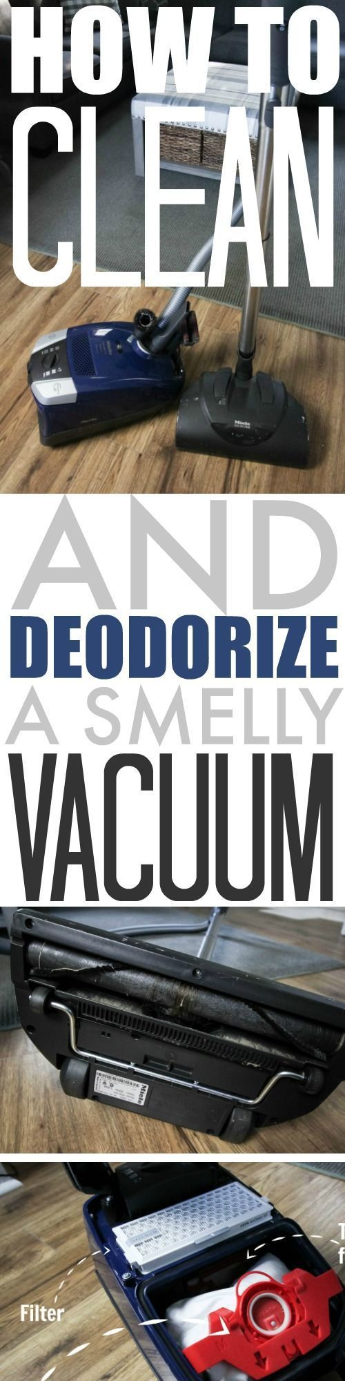 If you have a stinky vacuum, it can be really nice to know how to deodorize vacuum cleaners so you can breathe freely again and have a fresh smelling home without buying a whole new machine. Here's how it's done!