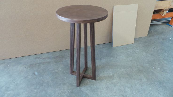 Solid American Walnut side table by APR Detailed Joinery