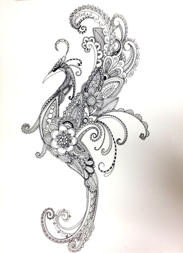 147 best bird phoenix peacock tattoo concept images on for Huma bird tattoo