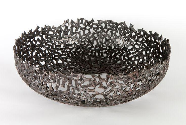 Anadora Lupo metal sculpture - decorative bowl