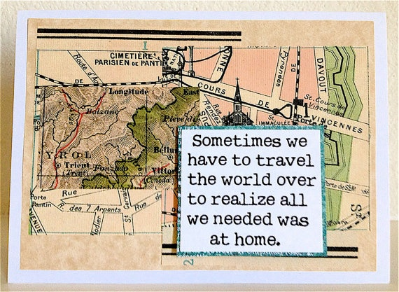 HOME Travel CARD  Homesick Searching Finding by BlackSheepBetsy, $3.00