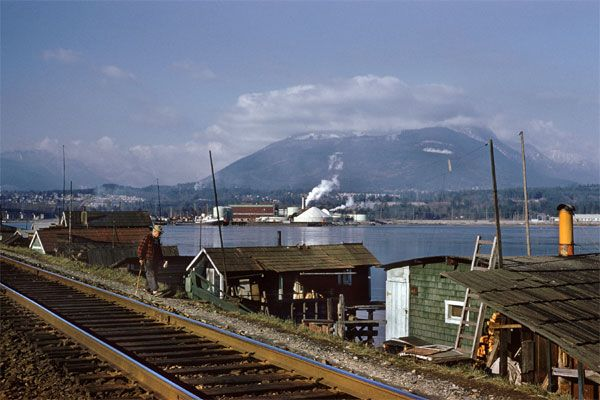 Equinox Gallery Vancouver - Squatter - Railroad Tracks by Fred Herzog