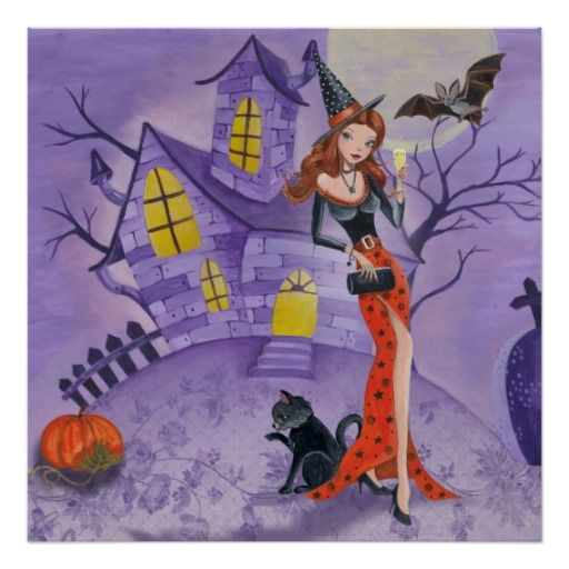 Halloween Witch – Poster | Zazzle.com – Anavrin