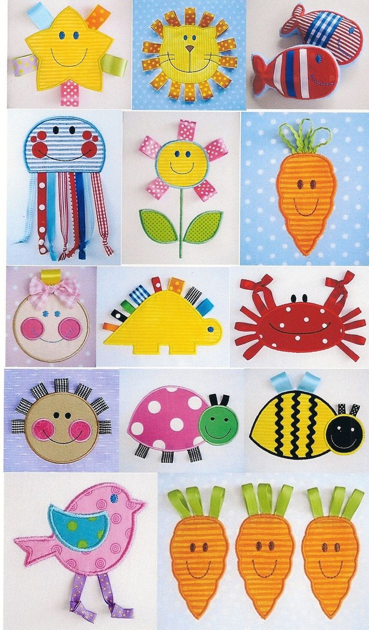 Embroidery Design Set for Machine Embroidery - Happy Face with Ribbon Applique - Eleven Designs 4x4 and 5x7. $29.99, via Etsy.