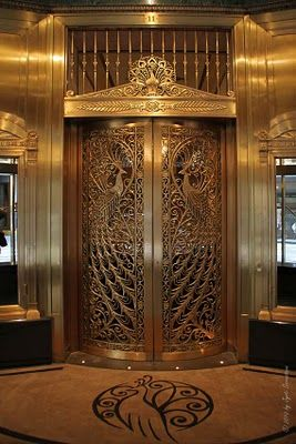 Peacock door at Palmer House Hotel in Chicago - gorgeous hotel!