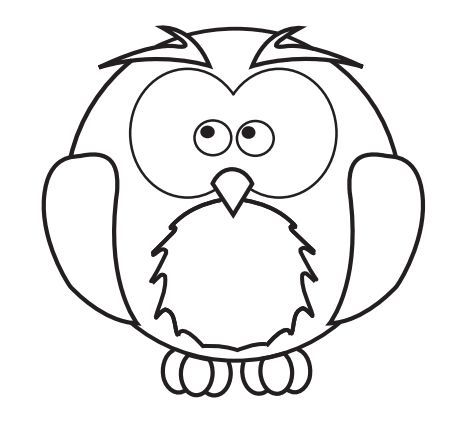 Baby Owl Pattern For Tracing Get It Free Here Http Www