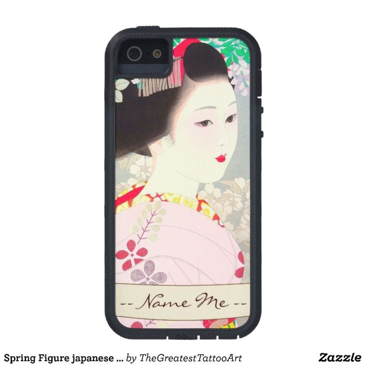 Spring Figure japanese lady woman Kato Shinmei iPhone 5 Cases