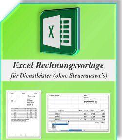 Excel Rechnungsvorlage für Dienstleister (ohne Steuerausweis)