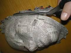 műanyag sablonról papírmasé
