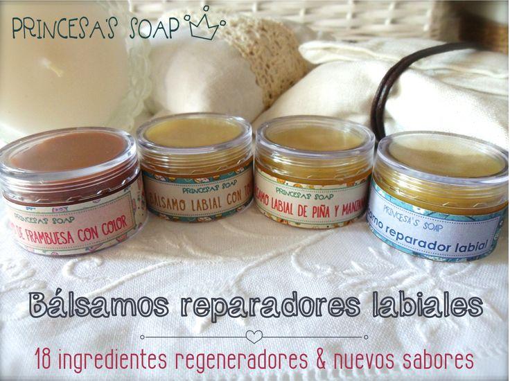 BÁLSAMO REPARADOR LABIAL CON AROMA FRAMBUESA Y COLOR Elaborado con ingredientes naturales, repara los labios más estropeados por los cambios de temperatura o por el frío. www.princesassoap.es