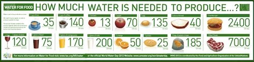 How much water it takes to produce these foods. Learn about world water day and what KIDS can do to conserve water.