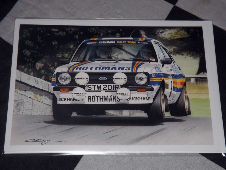 ROTHMANS FORD ESCORT RS 1800 MKII MK2 NEW PAINTING PRINT BIRTHDAY GIFT CARD  #ChristopherDugan #AllOccasions