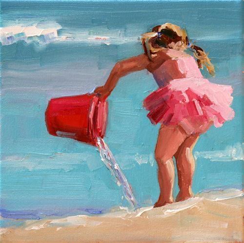 """""""sunlit tutu"""" - Original Fine Art for Sale - © carol carmichael"""
