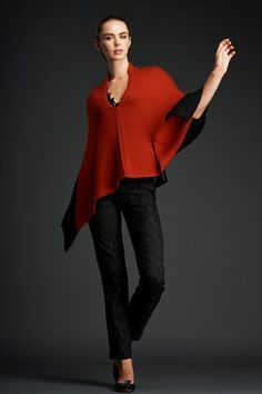 brigid mclaughlin images - Angled Cape.  Love the easy style and color of this piece.