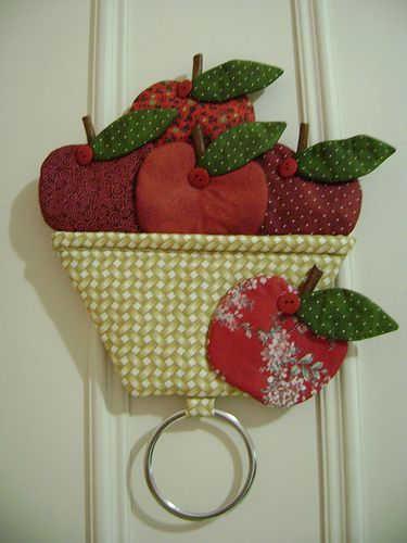 porta pano de prato....A basket of apples!How cute this is!!