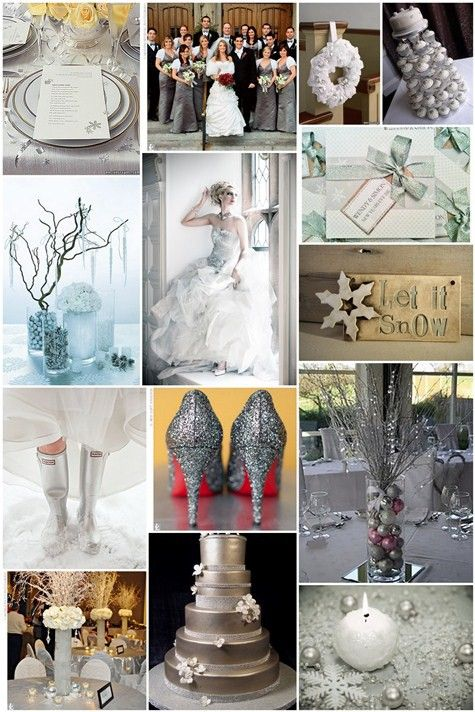 wedding color scheme images | Another untraditional color scheme for a winter wedding is teal, brown ...