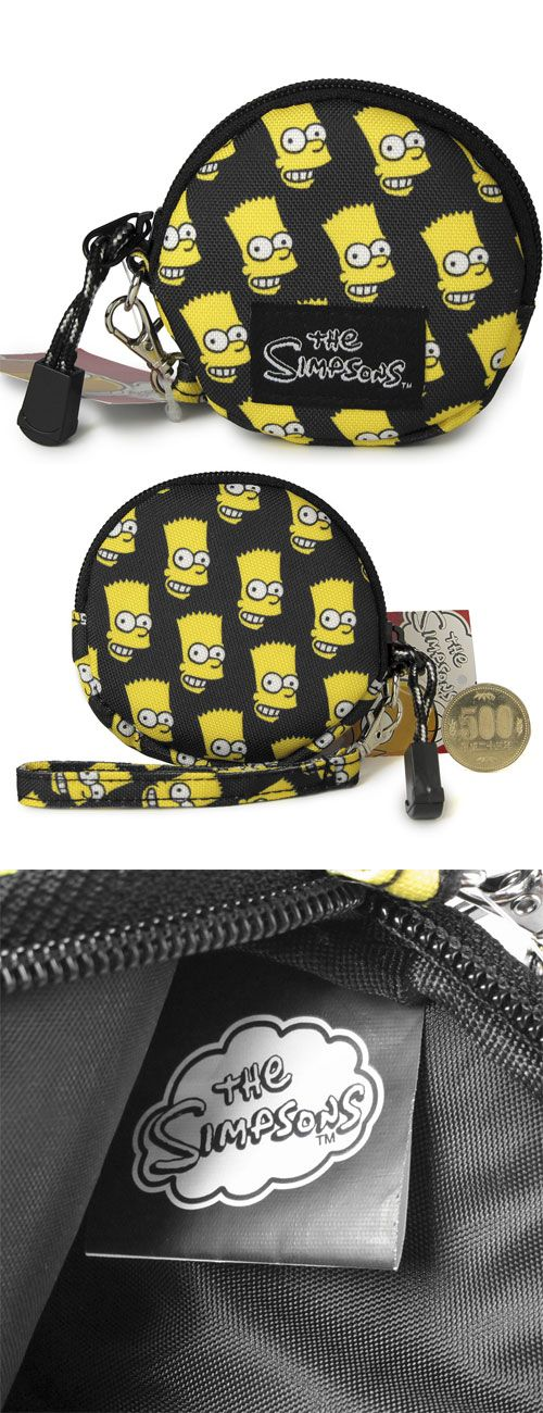 Japan The Simpsons Bart Head Pattern Black Color Coin Wallet / Pouch